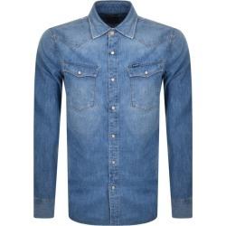 G Star Raw Slim 3301 Long Sleeved Shirt Blue found on MODAPINS from Mainline Menswear Australia for USD $102.14