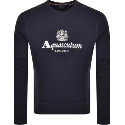 Aquascutum Waterfield Crew Neck Sweatshirt Navy found on MODAPINS from Mainline Menswear Australia for USD $159.22