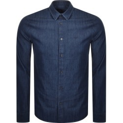 Armani Exchange Long Sleeved Denim Shirt Navy found on Bargain Bro UK from Mainline Menswear