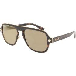 Versace Medusa Charm Sunglasses Brown found on Bargain Bro UK from Mainline Menswear