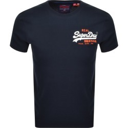 Superdry Vintage Short Sleeved T Shirt Navy found on Bargain Bro India from Mainline Menswear Australia for $33.24
