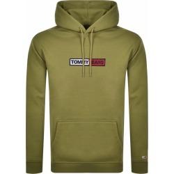 Tommy Jeans Embroidered Box Logo Hoodie Khaki found on Bargain Bro UK from Mainline Menswear