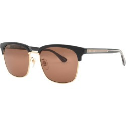 Gucci GG0382S Sunglasses Gold found on Bargain Bro UK from Mainline Menswear