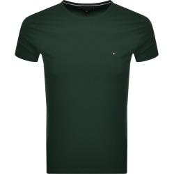 Tommy Hilfiger Stretch Slim Fit Logo T Shirt Green found on Bargain Bro UK from Mainline Menswear