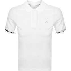Calvin Klein Logo Cuff Polo T Shirt White found on Bargain Bro UK from Mainline Menswear