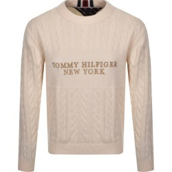 Tommy Hilfiger Cable Knit Jumper Cream found on Bargain Bro UK from Mainline Menswear