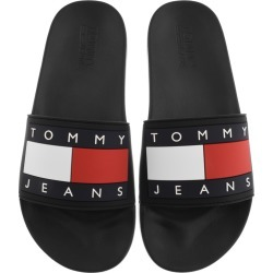 Tommy Jeans Flag Pool Sliders Black found on Bargain Bro UK from Mainline Menswear