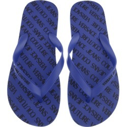 Versace Jeans Couture Logo Flip Flops Blue found on Bargain Bro UK from Mainline Menswear