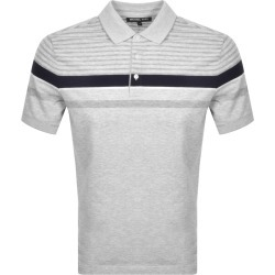 Michael Kors Birdseye Stripe Polo T Shirt Grey found on Bargain Bro UK from Mainline Menswear