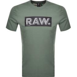 G Star Raw Reflective Logo T Shirt Green found on MODAPINS from Mainline Menswear Australia for USD $40.86