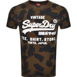 Superdry Camouflage Short Sleeved T Shirt Green found on Bargain Bro UK from Mainline Menswear