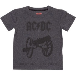 AC/DC For Those About To Rock Cannon Toddlers T-Shirt | Size 2T | Short Sleeve