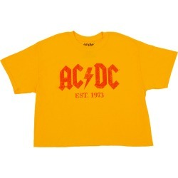 AC/DC Est 1973 Gold Ladies Crop Top T-Shirt   Size X-Large   Short Sleeve found on Bargain Bro India from Musictoday for $25.00
