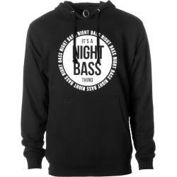 It's A Night Bass Thing (Glow-In-The-Dark) Hoodie   Size Small   Black