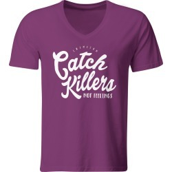 Catch Killers Not Feelings V-Neck T-Shirt   Size Medium   Purple   Short Sleeve found on Bargain Bro India from Musictoday for $27.00