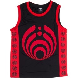 Bassdrop 808 Basketball Jersey - Red/black | Size Large