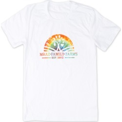Mraz Family Farms Rainbow T-Shirt | Size X-Large | White | Short Sleeve found on Bargain Bro from Musictoday for USD $22.80