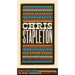 Chris Stapleton Show Poster - Orange Beach, Al 8/31/2019