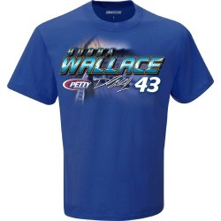 Richard Petty Motorsports - Bubba Wallace #43 2019 Nascar Schedule T-Shirt | Size Large | Silver | Short Sleeve
