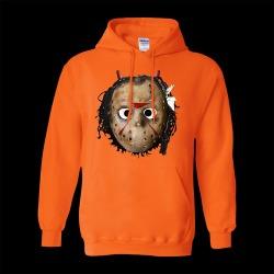 Hoodwolf Hoodie | Size Large | Orange