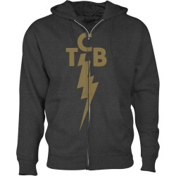 Tcb Gold Full-Zip Hoodie | Size Large | Black