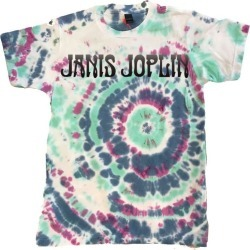 Home > Artists > Janis Joplin - Tie-Dye Logo T-Shirt | Size Large | Silver | Short Sleeve found on Bargain Bro from Musictoday for USD $22.80