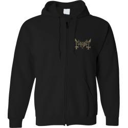 Mayhem - Daemon Zip-Up Hoodie   Size Small   Black