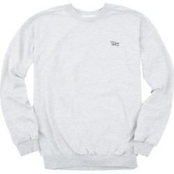 Wet - Grey Embroidered Crewneck Sweatshirt   Size X-Large found on Bargain Bro India from Musictoday for $30.00