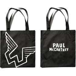 Paul Mccartney Merch - Wings Logo Black Tote found on Bargain Bro India from Musictoday for $30.00