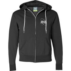 Nasa Zip Hoodie | Size Large | Black