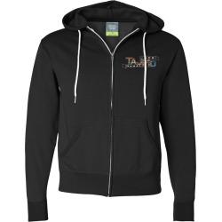 Tajmo Black Zip Hoodie | Size Large