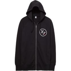 Xx Logo Zip-Up Hoodie | Size Large | Black