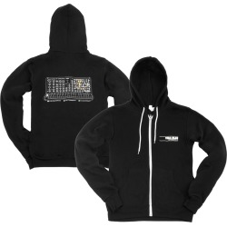 Vida Blue Analog Synth Zip-Up Hoodie   Size Small   Black
