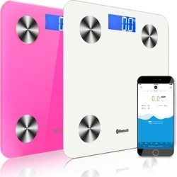 Soga Wireless Bluetooth Digital Health Analyser Scale 2pack - White/pink - ONE found on Bargain Bro from Noni B Limited for USD $58.59