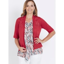 Millers Elbow Sleeve Classic Yoke Detail Cardigan - Sunset - XXXL found on Bargain Bro India from Rockmans for $7.39
