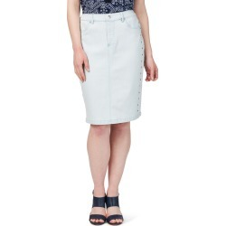 Rockmans Knee Length Light Wash Stud Detail Skirt - 16 found on Bargain Bro India from Noni B Limited for $14.08