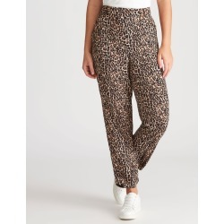 Rockmans Ankle Length D Ring Utility Pant - Leopard Print - 20 found on Bargain Bro from Rockmans for USD $10.51