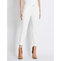 Rockmans 7/8 Length Girlfriend Chino Soft Pant - Cream - 22 found on Bargain Bro India from W Lane for $11.66