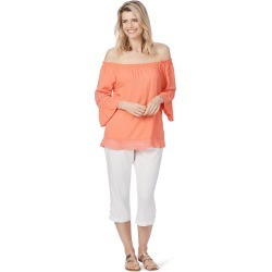 Rockmans Elbow Sleeve Lace Trim Top - Coral - 20 found on Bargain Bro from BE ME for USD $11.71