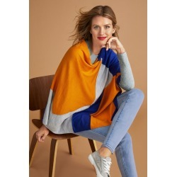 Capture Merino Colour Block Cape - Marmalade - M-L found on Bargain Bro India from BE ME for $65.17