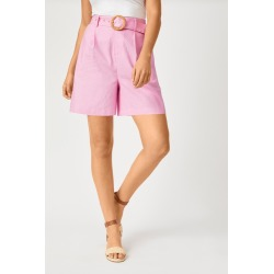 Emerge Linen Blend Short - Pink - 12 found on Bargain Bro Philippines from crossroads for $29.44