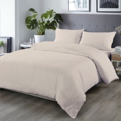 Royal Comfort 1000tc Cooling Bamboo Blend Quilt Cover Set - Warm Grey - Double found on Bargain Bro from Noni B Limited for USD $32.29