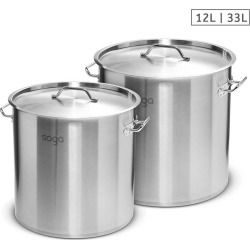 Soga Ss Top Grade Thick Stock Pot 25cm 12l 33l 18/10 - Stainless Steel - ONE found on Bargain Bro from Noni B Limited for USD $113.19