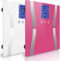 Soga Digital Body Fat Weight Scale Lcd Electronic 2pack - Pink/white - ONE found on Bargain Bro from Noni B Limited for USD $32.17