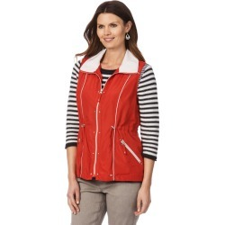W.lane Zip Detail Vest - Red found on Bargain Bro India from crossroads for $17.93
