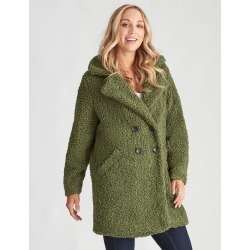 Crossroads Teddy Coat - Green - 12 found on Bargain Bro from Noni B Limited for USD $38.20