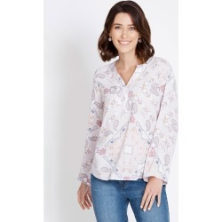Rockmans 3/4 Sleeve Aztec Paisley Print Shirt - Multi - 18 found on Bargain Bro Philippines from Rockmans for $13.70