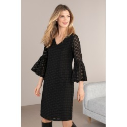 Grace Hill Bell Sleeve Dress - Black - 8 found on Bargain Bro India from Rockmans for $28.21