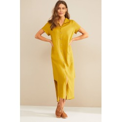 Grace Hill Linen Shirt Dress - Chartreuse - 14 found on Bargain Bro Philippines from W Lane for $50.47