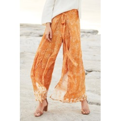Emerge Wrap Pant - Orange Print - 10 found on Bargain Bro Philippines from crossroads for $33.12